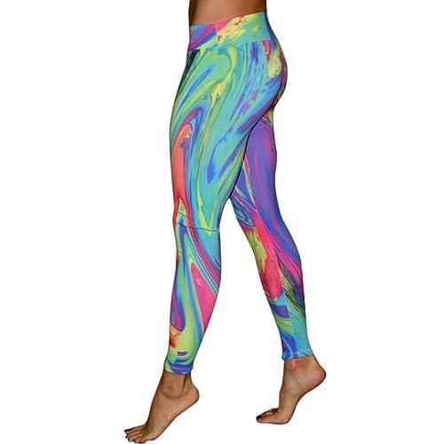 e2cb3fec44423 HARRYSTORE Women's Sports Gym Yoga Running Fitness Leggings Pants New  Design Supernova Rainbow Digital Printed Tight