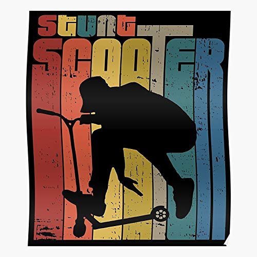Rider Scooter Trick Stunt Tricks E Freestyle Home Decor Wall Art Print Poster !