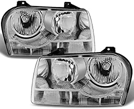 For Chrysler 300 OE Replacement Chrome Halogen Type Headlights Driver/Passenger Head Lamps Pair New