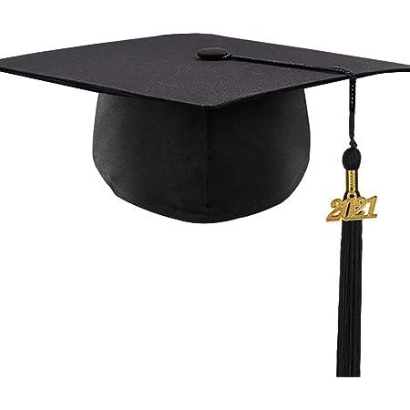 Graduation Quasten mit 2021 Jahre Gold Date Anh/änger Graduierungsseil f/ür Abschlussfeiern 9 Zoll Kleidung Hut h/ängen Blau Bachelor Cap Graduation Quaste Anh/änger