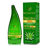 Newish Pure Aloe Vera Gel for Face Glow, Hair Growth & Skin Moisturizer