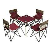 WANDERFALKE Campingstuhl Picknick/Kinder Set (4 Stühle + 1 Tisch) Campingstuhl Faltstuhl Campingstuhl faltbar Anglerstuhl klappbar Picknickstuhl klappbar Campingstuhl