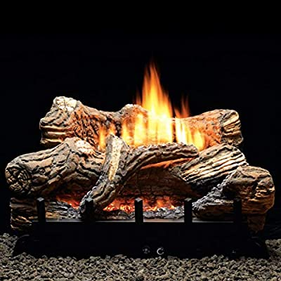 "Manual 6-piece 30"" Ceramic Fiber Log Set - Liquid Propane"
