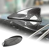 AIRSPEED Carbon Fiber Car Shark Fin Antenna Cover for Lexus is(2014-2019) LS ES LX NX CT RC UX LM RX Accessories(Black)