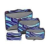 Organización Cubos Viajes Acuario Signo del Zodiaco Símbolo del horóscopo Cubos de Embalaje de vectores Organizador Viajes Cubos de Embalaje de Colores Organizador de Maleta de 4 Piezas Bolsa de Alma