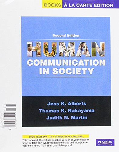 Human Communication in Society, Books a la Carte Plus MyCommunicationLab (2nd Edition)