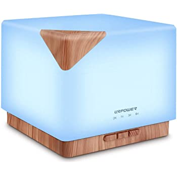 URPOWER Aromatherapy Essential Oil Diffuser Humidifier, 700ml Large Capacity Modern Ultrasonic Aroma Diffusers Running 20+ Hours with Adjustable Mist Mode/4 Timer Settings for Home Office Study