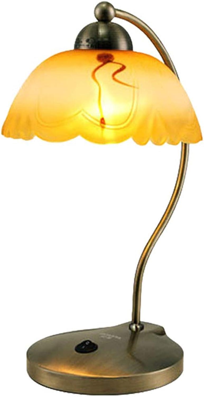 NACHTTISCHLAMPEN lixin Eisen Tischlampe Schlafzimmer Schlafsaal Kreative Tischlampe (Farbe   Metallic, gre   38  28cm)