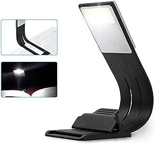 LED Leseleuchte mit flexiblem Arm Buchlampe auch als Lesezeichen verwendbar von notrash2003 2er Set Schwarz//Wei/ß