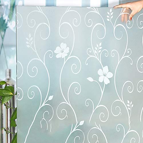 Met lijm glasdecoratiefolie raamfolie, lichtgewicht transmissie, ondoorzichtige keuken, slaapkamer, raamfolie, bescherming tegen inkijk, balkon, zonnecrème, isolatie, raamfolie