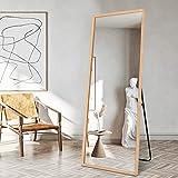 "BOLEN 65""x22"" Dressing Mirror Full Length Mirror Wood Frame Dressing Mirror Standing/Wall-Mounted Mirror (Solid Wood)"
