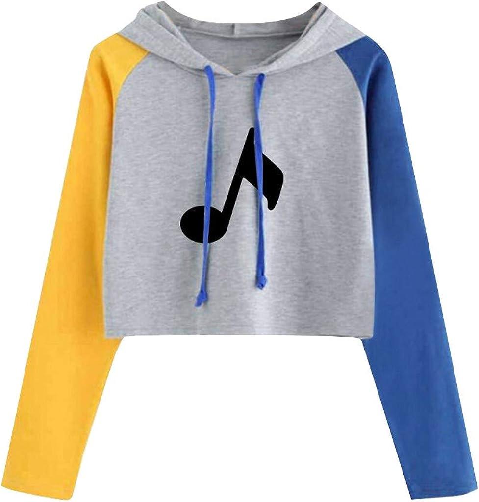 Women's Cute Panda Print Sweatshirts Drawstring Hoodie Long Sleeve Pullover Crop Top