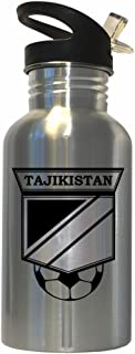 Tajikistani Soccer Stainless Steel Water Bottle Straw Top - Tajikistan