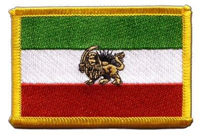 Aufnäher Patch Flagge Iran Shahzeit - 8 x 6 cm