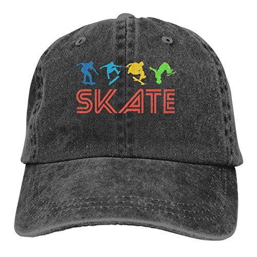 Hoswee Baseballmütze Hüte Kappe Herren Damen Baseball Cap Hut Skater Sommer Denim Trucker Hut für Frauen