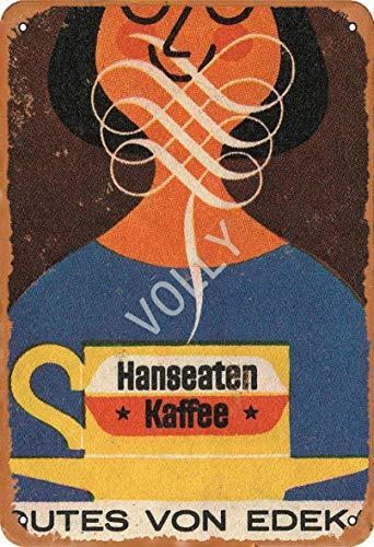 Hanseaten Kaffee Rutes Von Edeka Blechschild Metall Plakat Warnschild Retro Eisenblech Plakette Jahrgang Poster Schlafzimmer Familie Wand Aluminium Kunstdekor