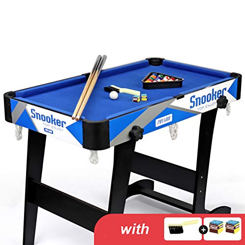 Save %23 Now! Folding Pool Table Home Use,Portable Billiard Table with Balls and Sticks,Fun Tabletop Billiards Game for Family Entertainment F