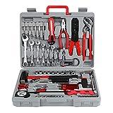 PRASACCO 555 PCS Tool kit, Household Tool kit, Hand Tool Kit with Plastic Toolbox Storage Box, For Furniture Repair, DIY