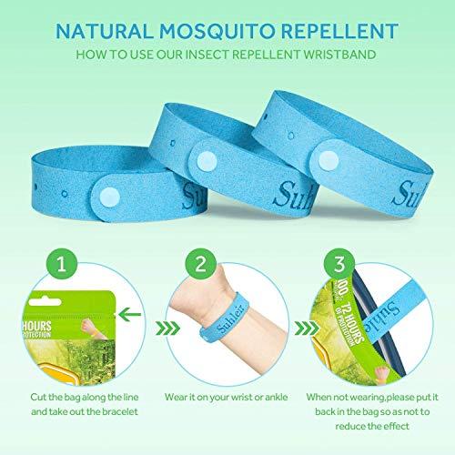 Orange Bracelet Anti Moustique avec Patch, Bracelet Anti Insectes pour Enfants, Adulte, Bracelet Anti-Moustique Réglable, Anti-Moustique e jusquà 300 Heures