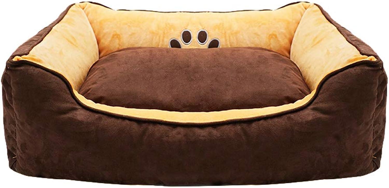 Pet Nest Cat Litter Four Seasons Warm Washable Large Small Dog golden Retriever Dog Kennel Mat WHLONG (Size   S)