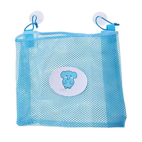 Fliyeong Premium Baby Bad Zeit Spielzeug Lagerung Mesh Taschen Bad Organizer Hängende Saugbeutel Blau