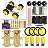 Robot Smart Car Board Starter Kit with Motor Tire L298N for UNO R3 Arduino PI