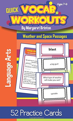 Quick Vocab Workouts Practice Cards: Weather and Space Passages