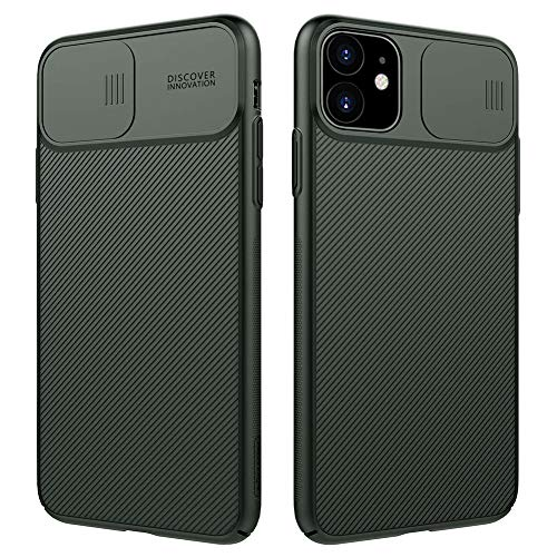 Nillkin iPhone 11 Pro Max Case, Slim Full Body Stylish iPhone 11 Pro Max Protective Case Cover [Creative Slide Lens Protector] Hard PC Ultra Thin Phone Case for iPhone 11 Pro Max 6.5 inch Dark Green