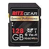 Ritz SD-Karte SDXC UHS-I 128 GB Extreme Performance High Speed 90/60 MB/S U3 A1 Class-10 V30...