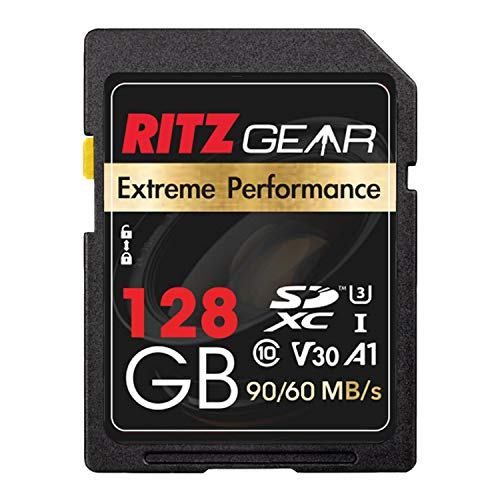 Extreme Performance High Speed UHS-I SDXC 128GB SD Card 90/60 MB/S U3 A1 Class-10 V30 Memory Card Designed for SD Devices That can Capture Full HD, 3D, and 4K Video as Well as raw Photography