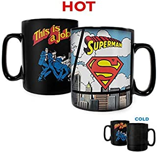 DC Comics – Clark Kent Changing to Superman – Justice League - Morphing Mugs Heat Sensitive Clue Mug – Hidden image appears when hot liquid is added