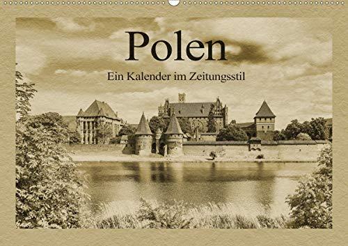 Polen – Ein Kalender im Zeitungsstil (Wandkalender 2021 DIN A2 quer)