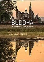Buddha - Harmonie und Gelassenheit (Wandkalender 2022 DIN A2 hoch): Zwoelf Buddha-Statuen, die beim Anschauen schnell den Stress des Tages vergessen lassen. (Monatskalender, 14 Seiten )