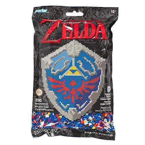 Perler Nintendo's The Legend of Zelda Hylian Shield Pattern and Fuse Bead Kit, 10.75'' x 13'', 3503pc