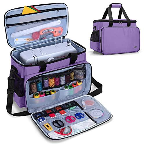 Luxja Sac de Machine à Coudre-Sac de Rangement de Machine à Coudre, Sac de Machine à Coudre pour Accessoires de Coudre, Violet
