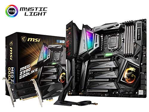 MSI MEG Z390 GODLIKE LGA1151 (Intel 8th and 9th Gen) M.2 USB 3.1 Gen 2 DDR4 Wi-Fi SLI CFX Extended ATX Z390 Gaming Motherboard