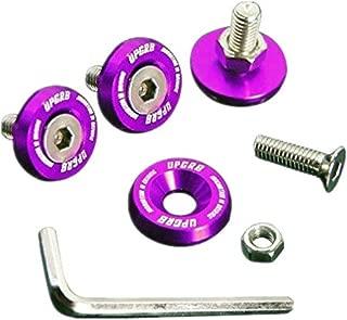 Upgr8 U8201-1007 Aluminum 10mm 4 Pieces Fender Washer Kit (Purple)