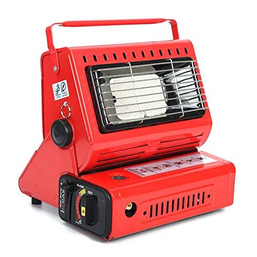 DJLOOKK Außenraumheizung, Tragbare Flüssiggaszeltheizung, Multifunktionale Sicherheits-Mini-Strahlungsheizung Für Den Innenbereich,Rot