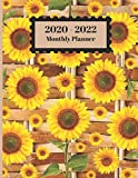 2020-2022 Monthly Planner: Sunflowers Floral Wicker Wooden Design Cover 2 Year Planner Appointment Calendar Organizer And Journal Notebook