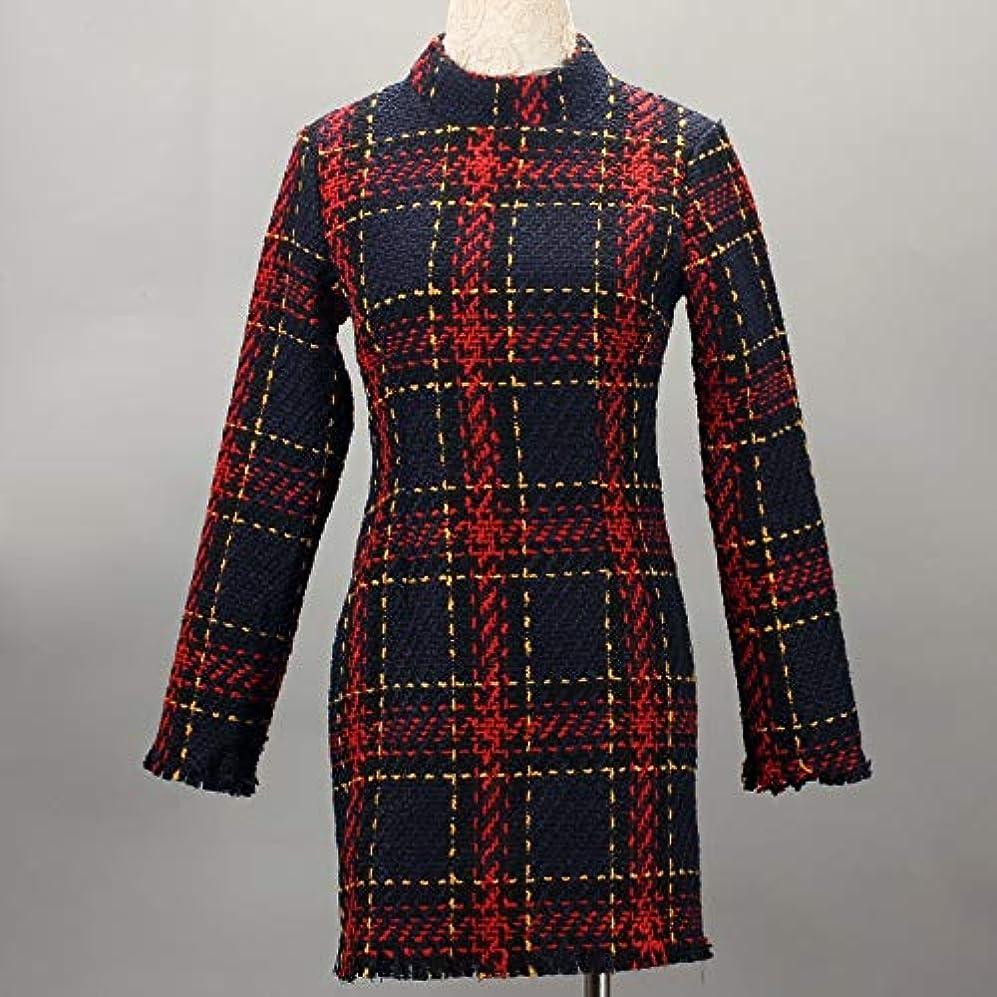 足フレームワークスケートMaxcrestas - ファッション冬のドレスの女性は、ストライプ長袖スリムスキニーセクシーなミニボディコンヴィンテージvestidosドレスの女性を印刷PLAID