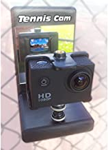 Tennis Cam 1080p HD VideoCam with Tennis Camera Fence Mount