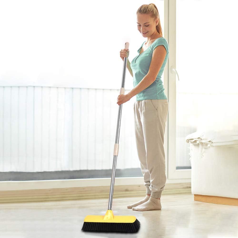 Buy Floor Brush Scrubbing Brush Indoor Push Broom 9.9 inches Wide ...