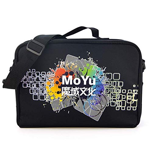 Moyu Cube Bag 36x25x7.5cm Size Black Shoulder Hand Bag for All Layer Puzzle Cube