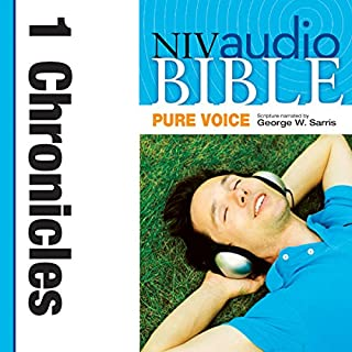 Pure Voice Audio Bible - New International Version, NIV (Narrated by George W. Sarris): (12) 1 Chronicles audiobook cover art