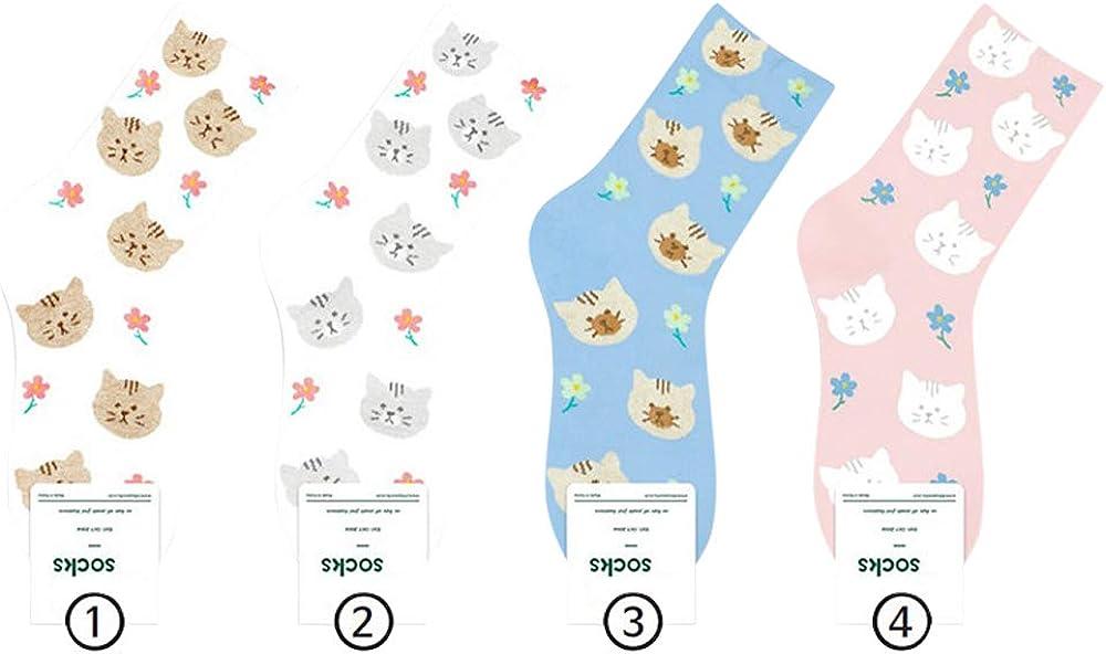 Cute Women Girls Casual Fahion Animals Cat Kitty Pattern Socks Funny Novelty socks