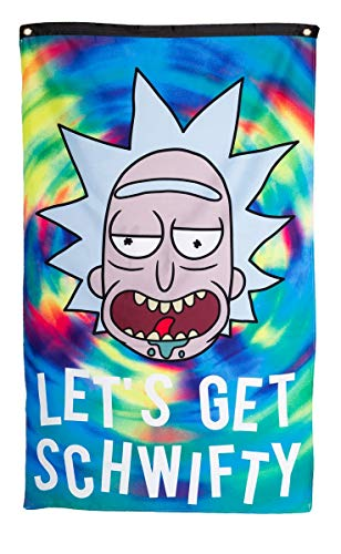 Calhoun Rick and Morty Indoor Wall Banner (30' by 50') (Get Schwifty)