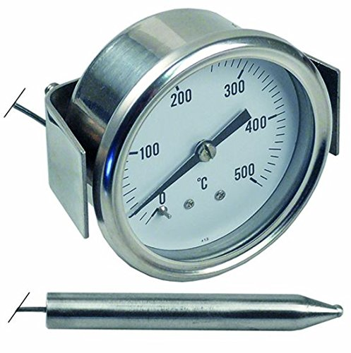 UNIVERSAL PIZZA OVEN THERMOMETER TEMPERATUUR DISPLAY CLOCK 60MM DIAMETER 0-500oC