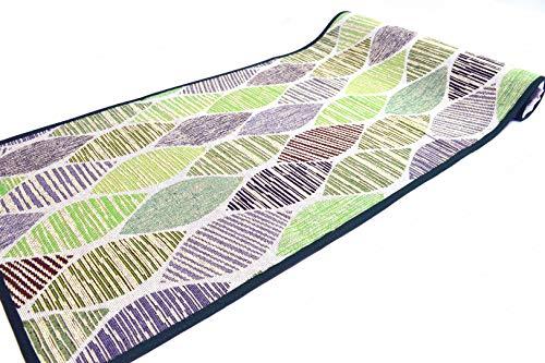Fiorenza - Alfombra decorativa de 50 cm para cocina y baño, lavable, antideslizante, con borde de algodón (verde, 50 x 230 cm)