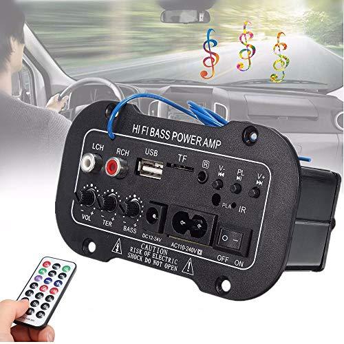 TaiRi 220V Auto-Bluetooth, 2.1 Mini-Fernbedienung Auto-Audio-Verstärker mit Zwei Lautsprecherausgangskabeln