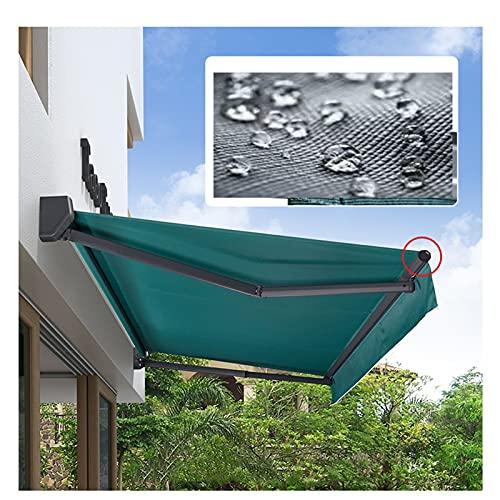 LJIANW-lonas impermeables exterior, Retráctil Manual Toldo, Anti-UV Impermeable Bricolaje Toldo Plegable Pabellón Kiosko Refugio de Sombra Solar para balcón, Patio, Patio